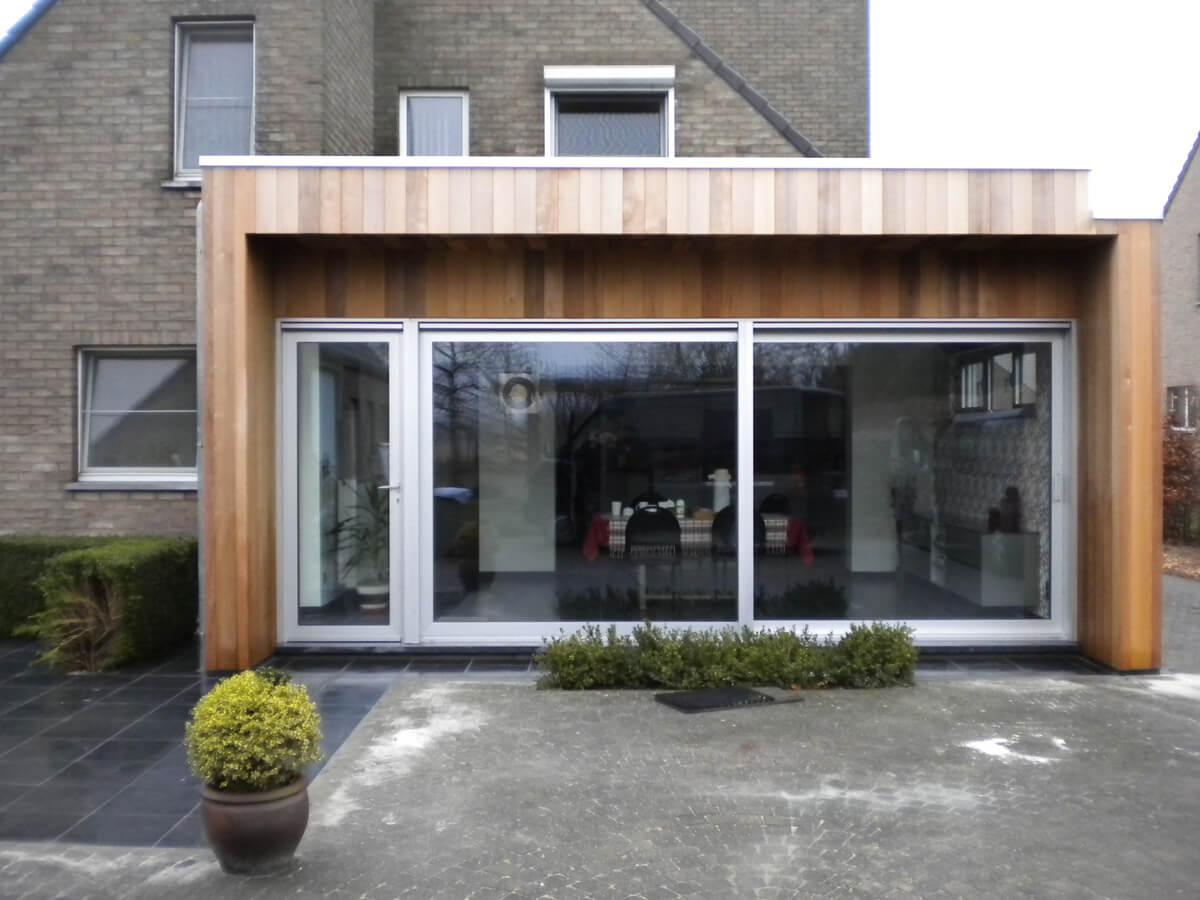 De Badkamer Toilet Man ~ www bm bouw be  Woninguitbreiding in harmonie met een huis